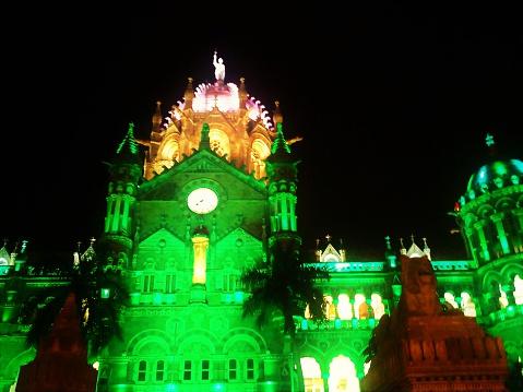Chhatrapati Shivaji Terminus Railway Station Stock Photo - Download Image Now