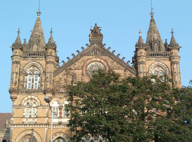 Chhatrapati Shivaji Terminus Railway Station stock photo