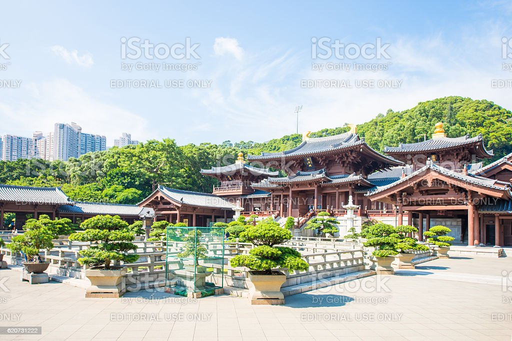 Chi Lin Nunnery, beautiful and peaceful place stock photo