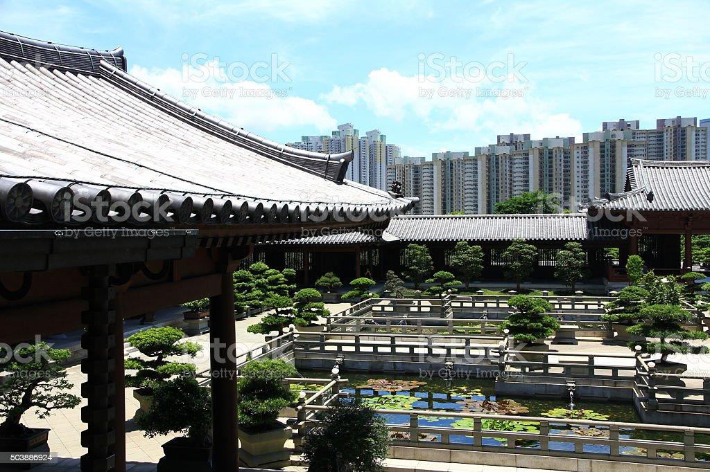 Chi Lin Nunnery in Hong Kong stock photo
