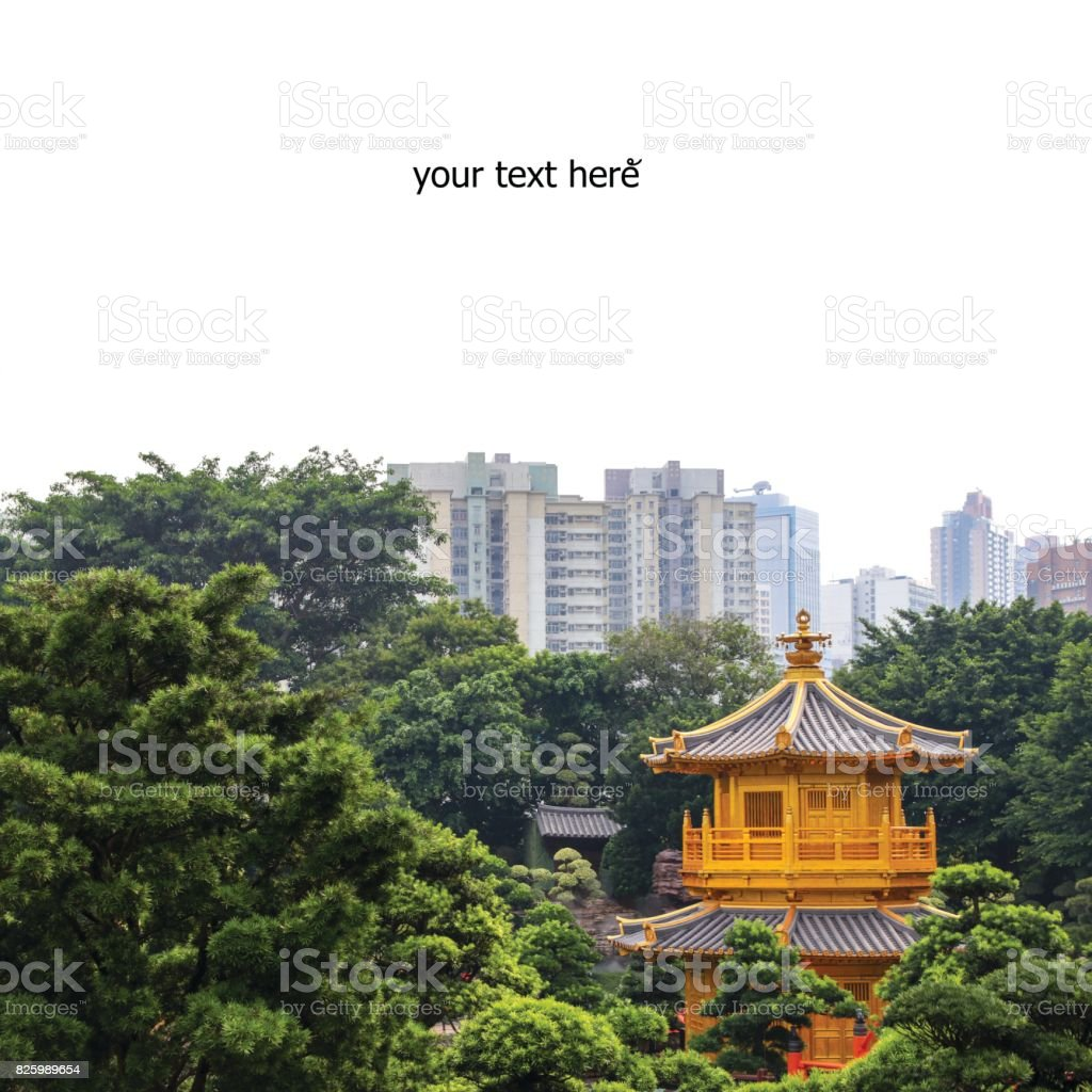 chi lin nunnery on white background stock photo