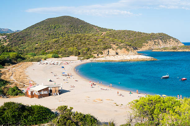 Chia beach stock photo