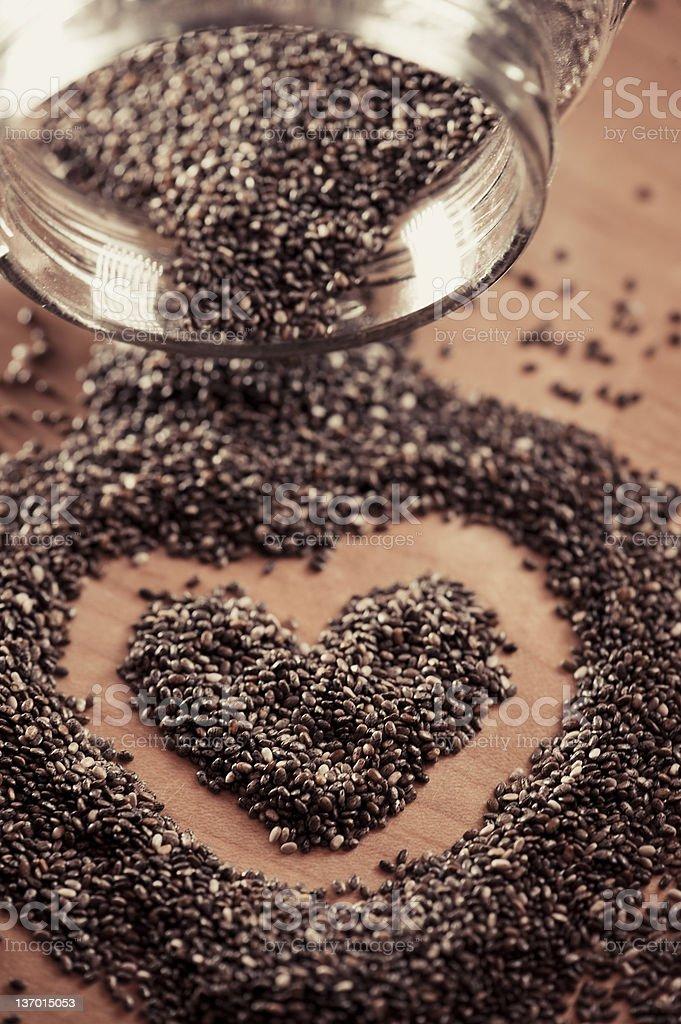 Chia Heart royalty-free stock photo
