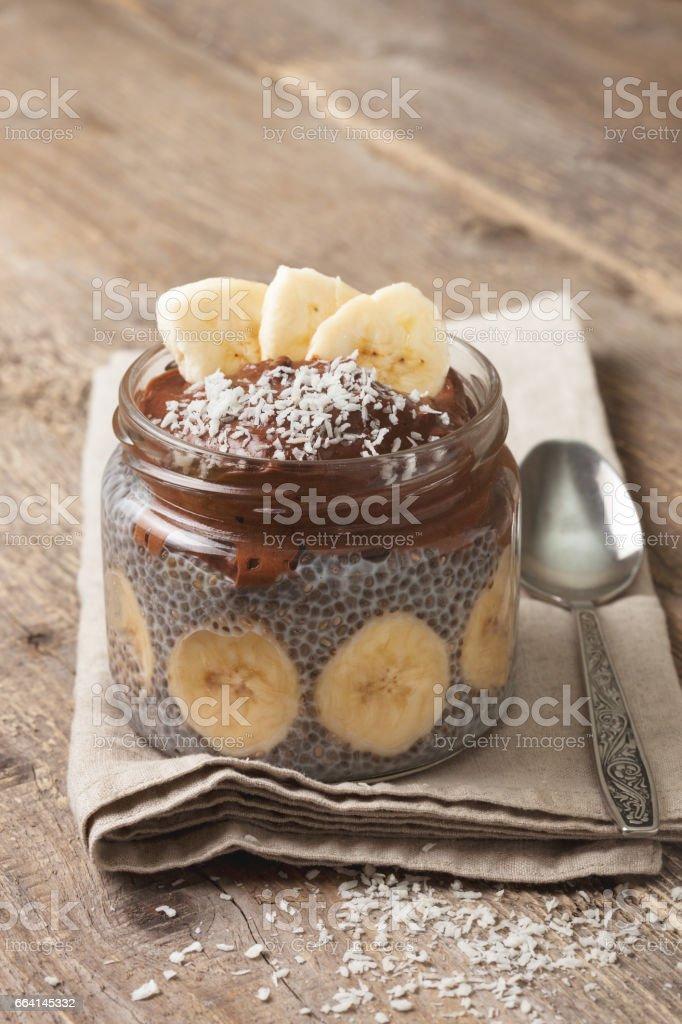 chia pudding stock photo