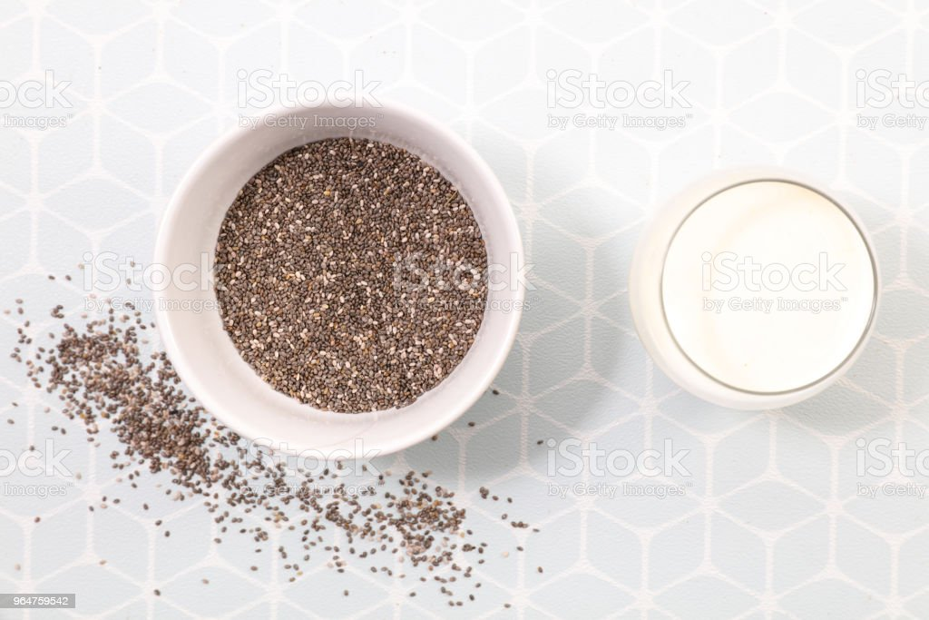 chia seed above royalty-free stock photo