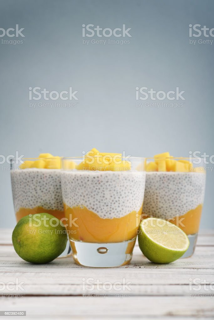 Chia seed pudding royalty-free stock photo