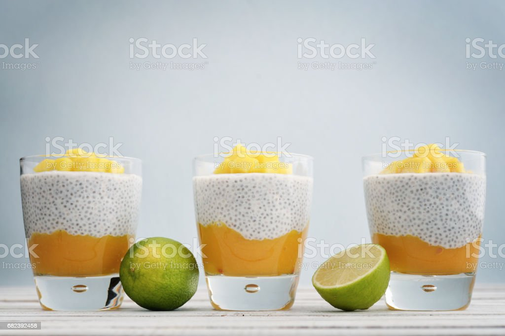 Chia seed pudding foto stock royalty-free