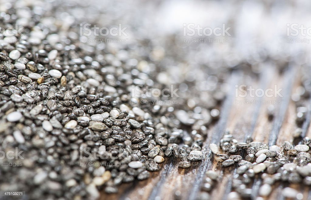 Chia Seeds background (close-up shot) royalty-free stock photo