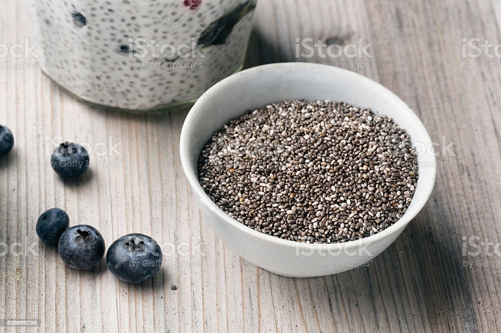 Chia Seeds in a white bowl – Foto