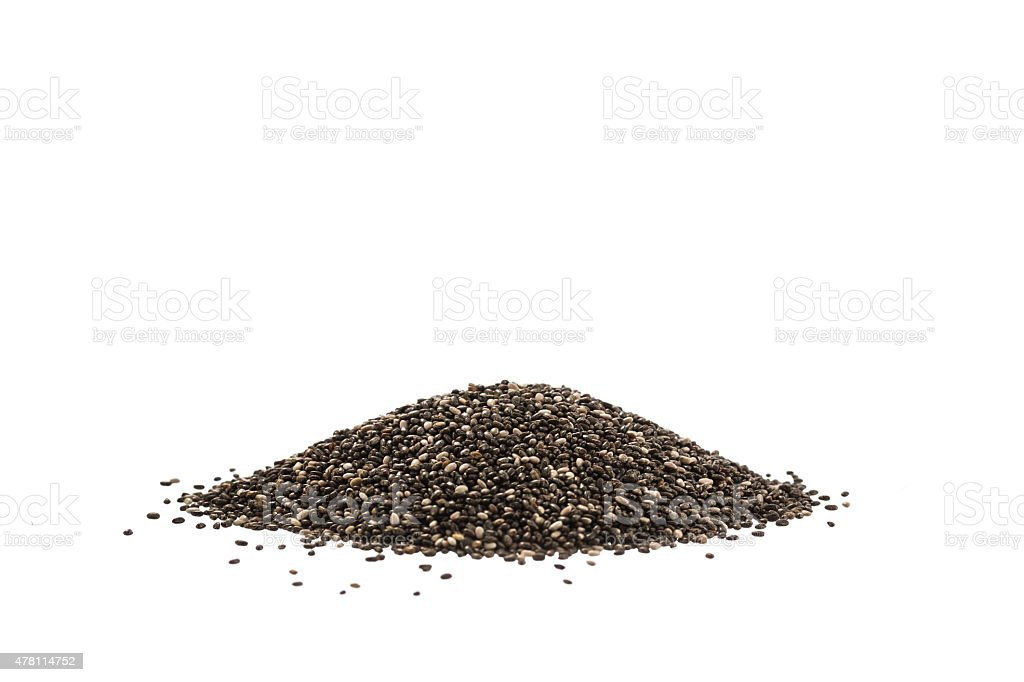 Chia seeds isolated on white stock photo