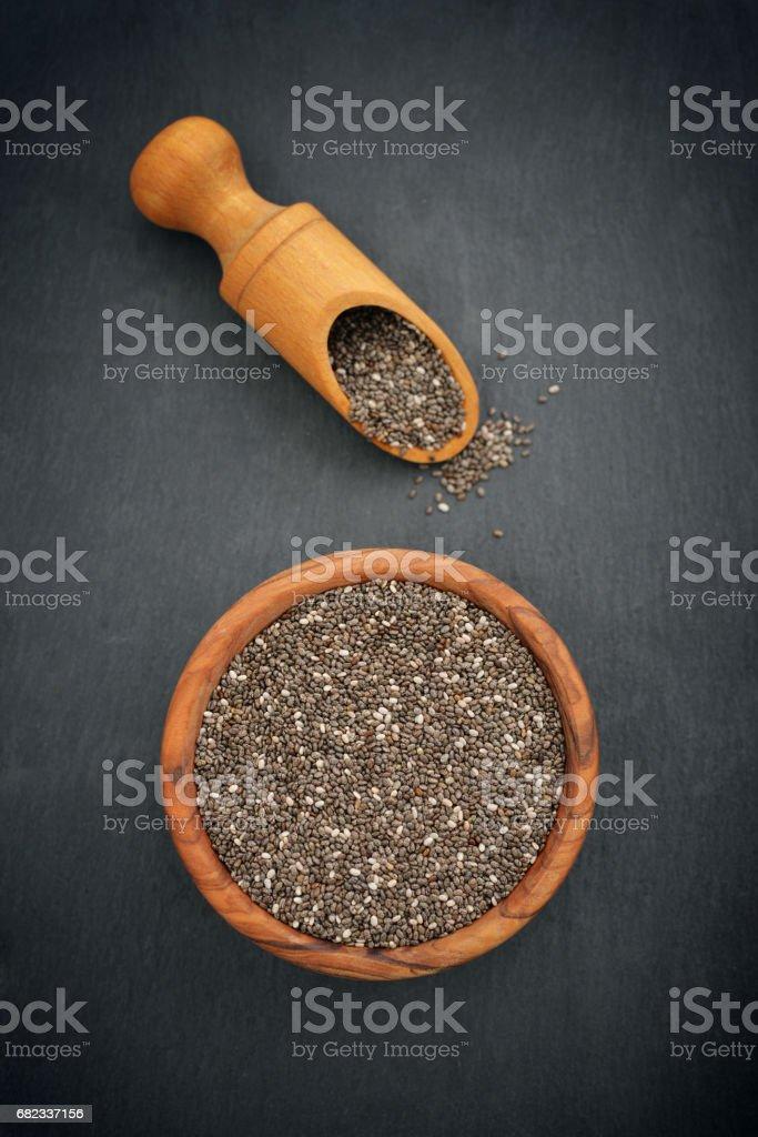 Chia seeds foto stock royalty-free