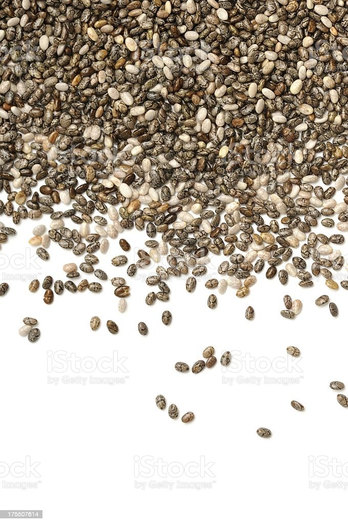 Chia spilt stock photo