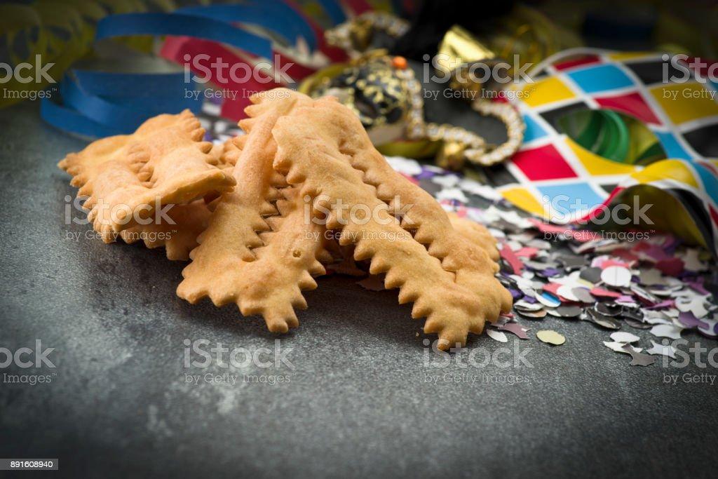 Chiacchere stock photo