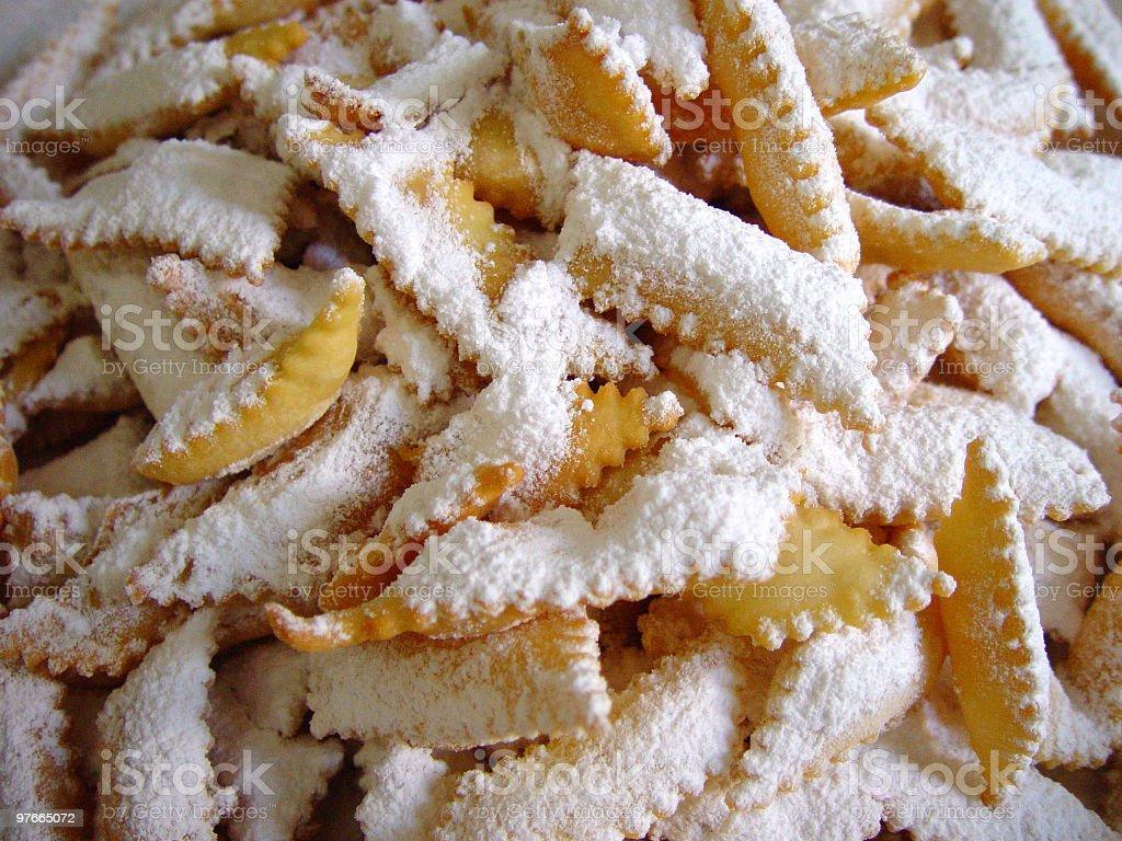 Chiacchiere, tipica italiana Torta di Carnevale - foto stock