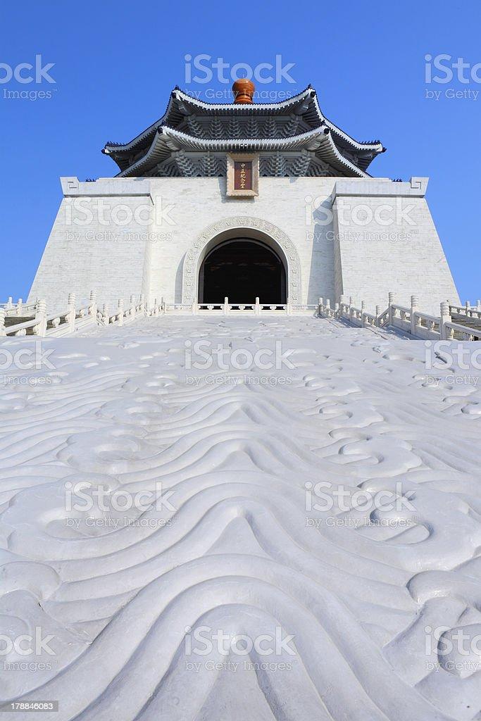 chiang kai shek memorial hall in taiwan stock photo