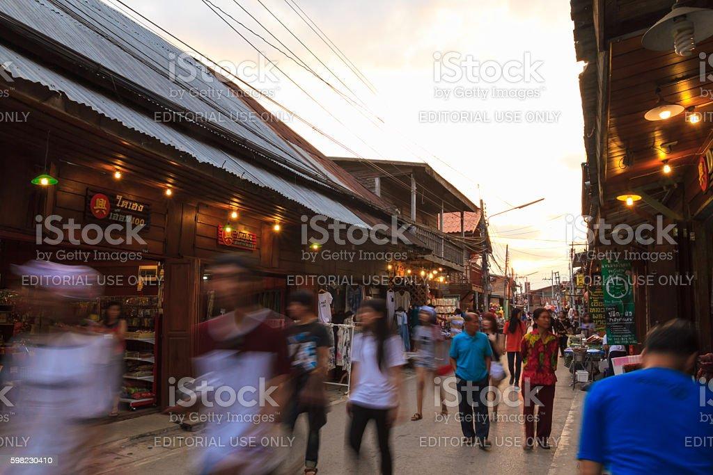 Chiang Khan's walking street foto royalty-free