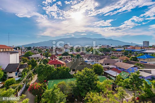 Chiang Mai city view in Thailand