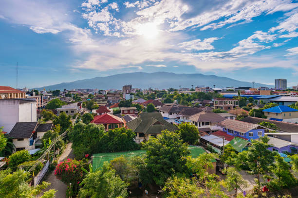 Chiang Mai city view Chiang Mai city view in Thailand chiang mai province stock pictures, royalty-free photos & images