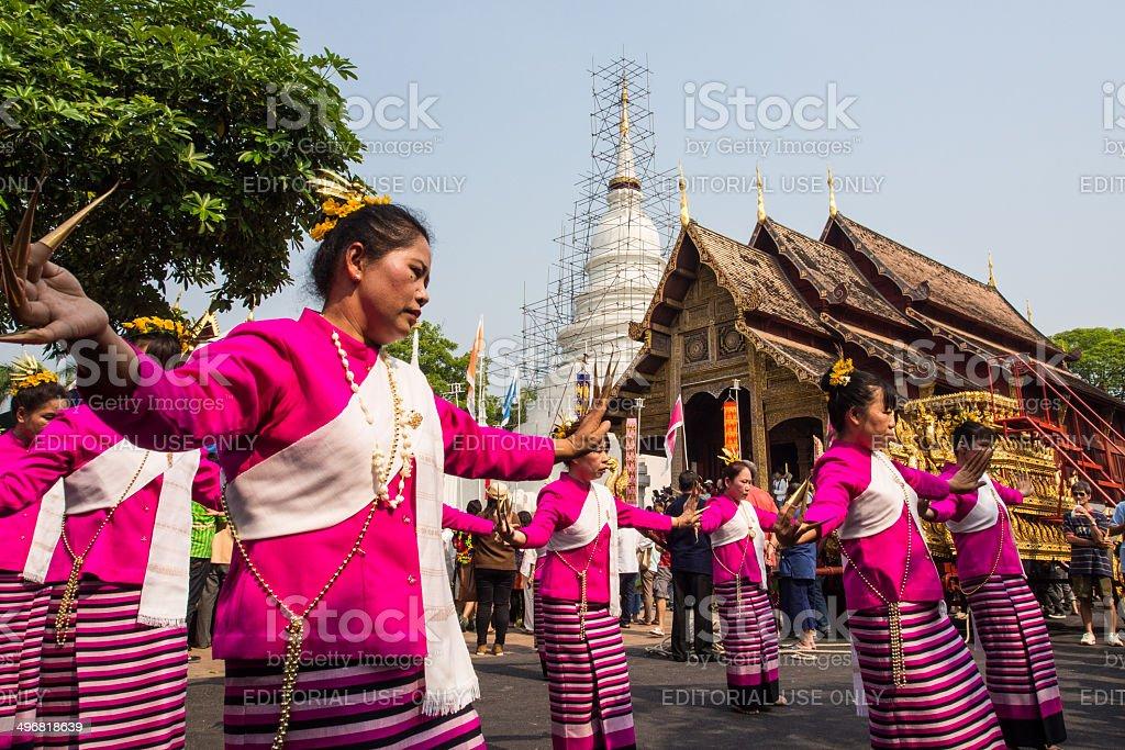 Chiang Mai Songkran festival 2014 stock photo