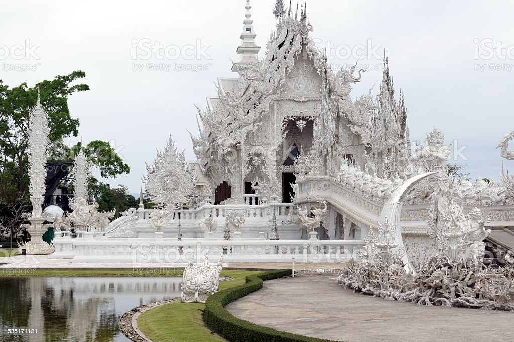 Chiang Rai White Temple stock photo