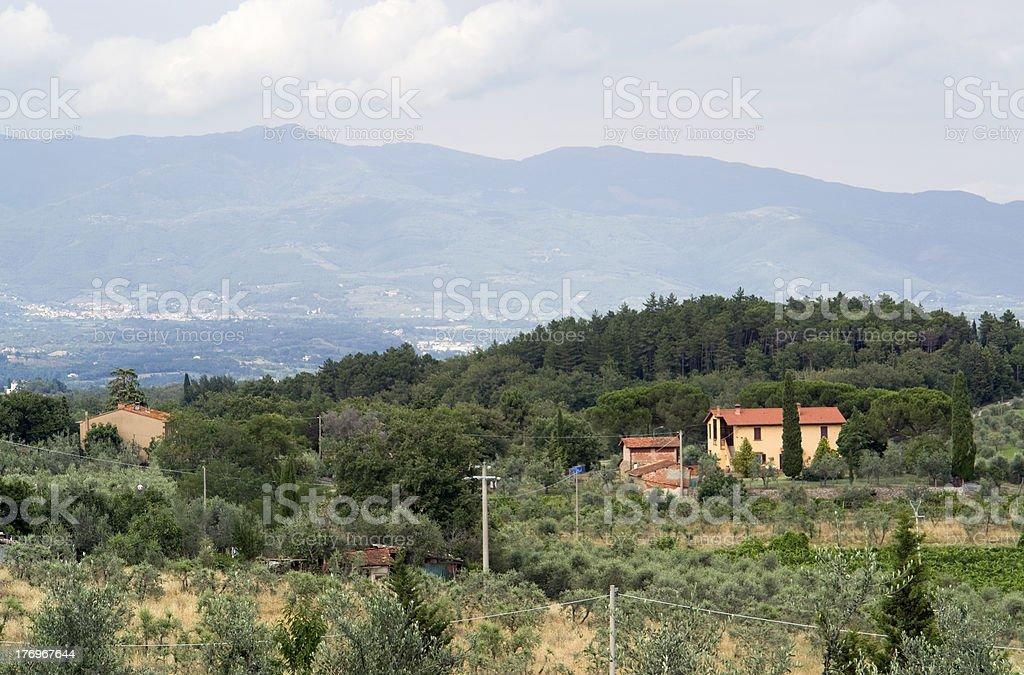 Chianti in Tuscany royalty-free stock photo