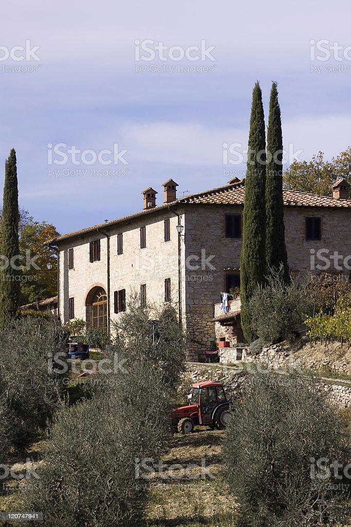 chianti mansion royalty-free stock photo
