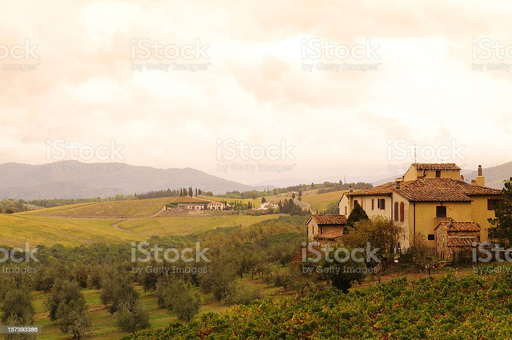 Chianti Valley in Tuscany Fall royalty-free stock photo