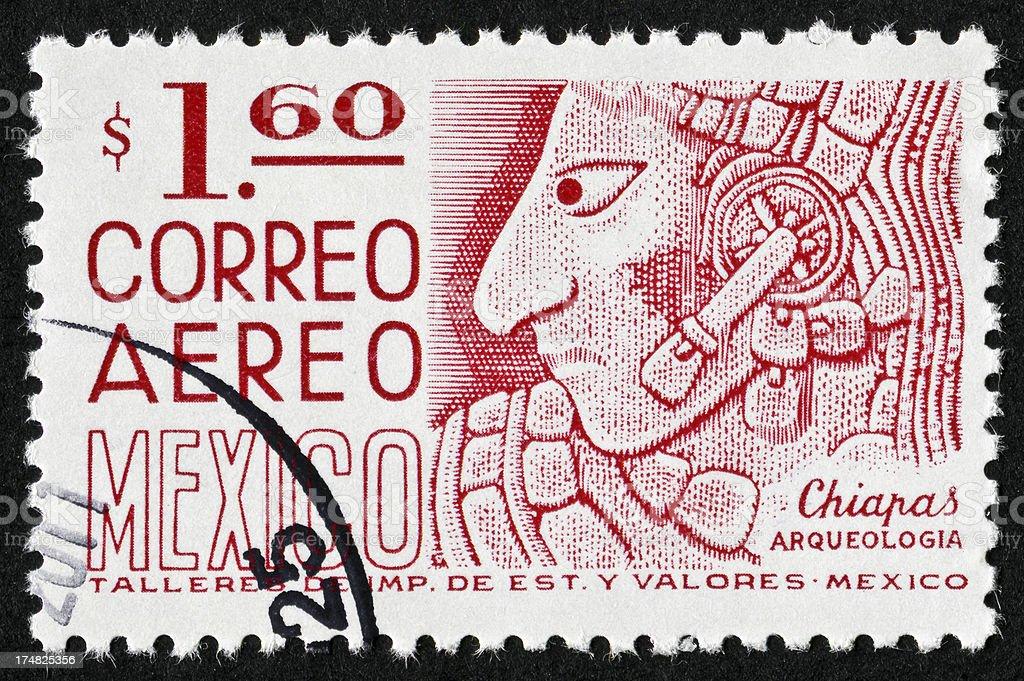 Chiapas Mexico Stamp royalty-free stock photo