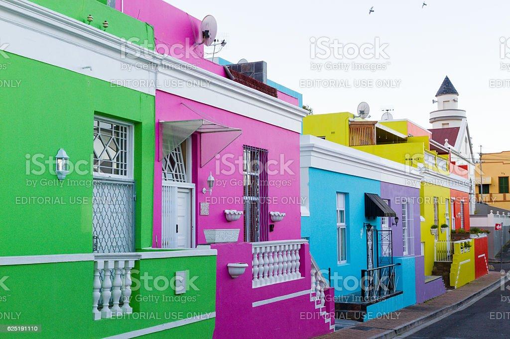 Chiappini Street Houses, Bo-Kaap stock photo