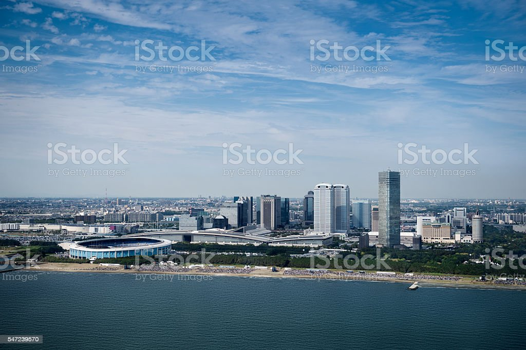 Chiba City aerial view stock photo