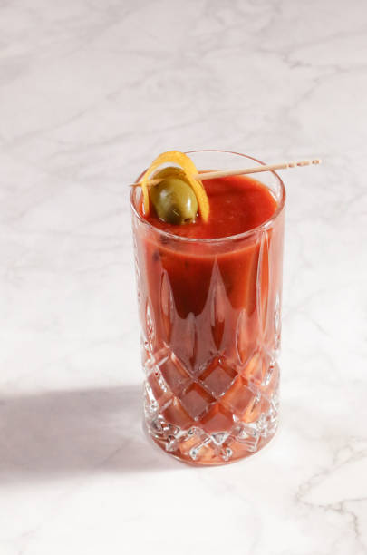 Chic Bloody Mary Cocktail stock photo