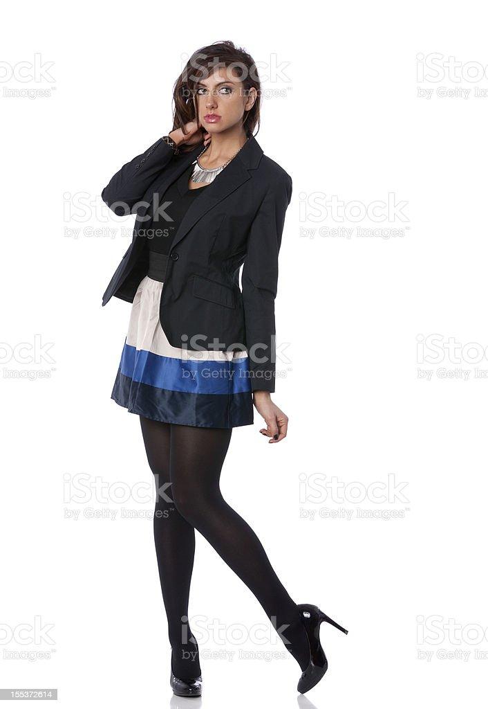 chic businesswoman royalty-free stock photo