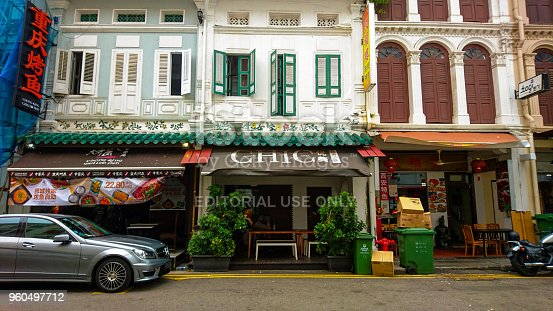 Singapore - October 1, 2016: Chic Capsule Otel is Located in The Historic District Of Chinatown and 200 Meters From Chinatown MRT.