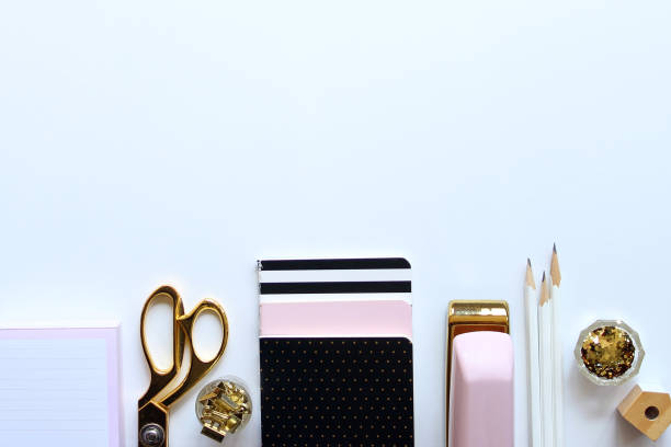 chic desktop - stationary stock photos and pictures
