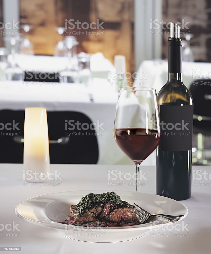 chic meat dish royalty-free stock photo