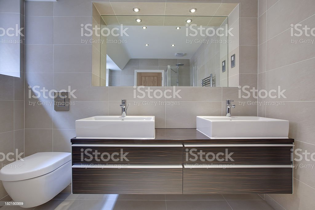 Chic modern bathroon detail stock photo