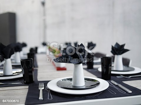chic modern table setting