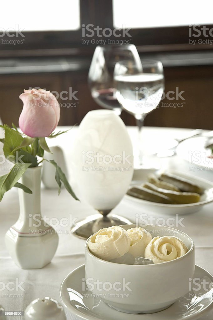 Chic Table royalty-free stock photo