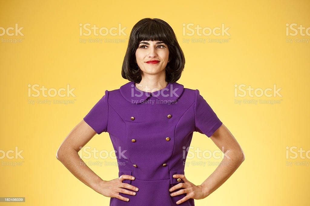Elegante mujer en vestido Retro foto de stock libre de derechos