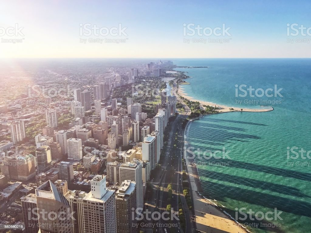 Chicago Antenne City View Nordstrand – Foto