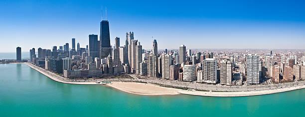 Chicago Aerial Panorama stock photo