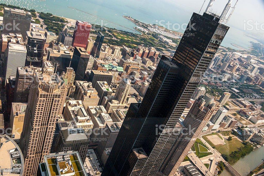 Chicago Aerial stock photo