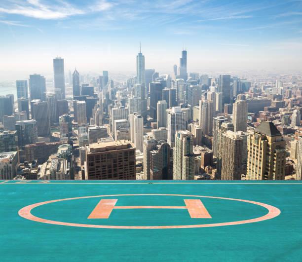 chicago aerial - hohe warte stock-fotos und bilder