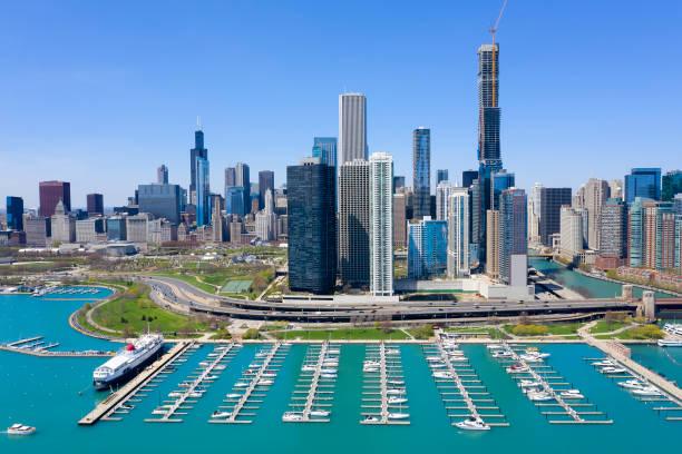 Chicago, Skyline-Ansicht von Luft – Foto