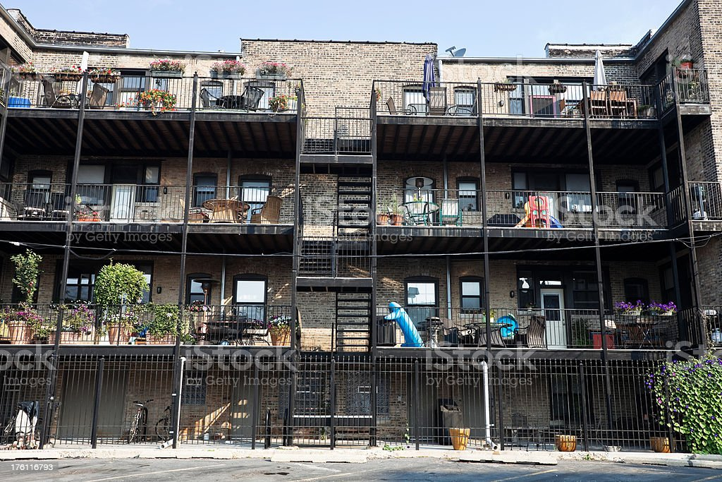 Chicago Apartment Balconies royalty-free stock photo