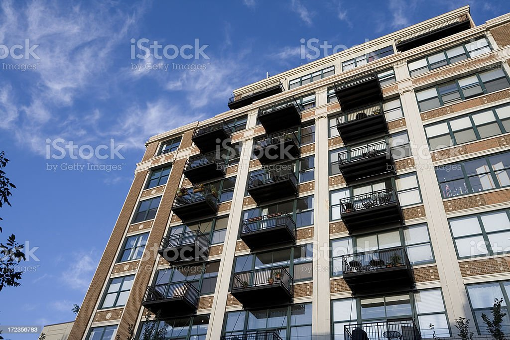 Chicago Apartments royalty-free stock photo