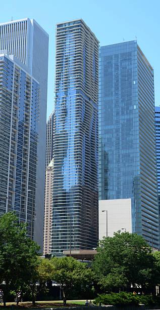 Chicago Aqua Building stock photo