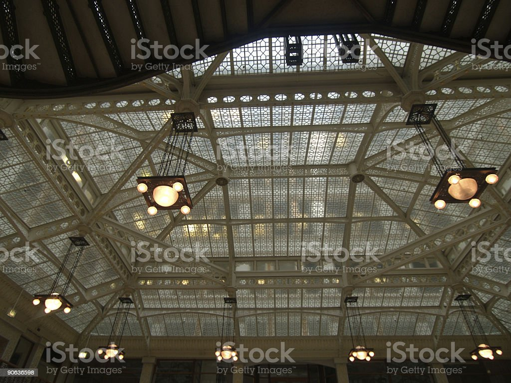 Chicago Architecture Ceiling stock photo