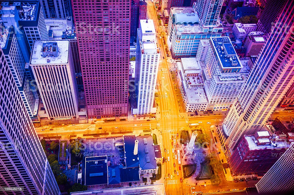 Chicago areal view from above stock photo