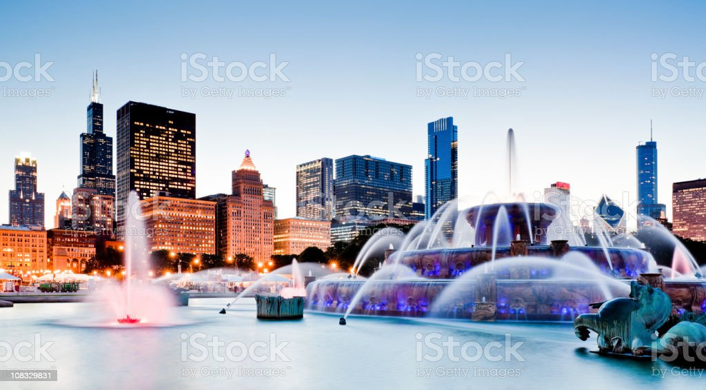 Chicago at Dusk royalty-free stock photo